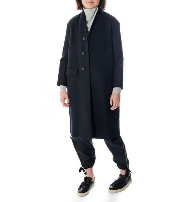 08sircus Long Coat with Button Closure