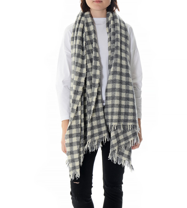 destin Grey and White Ween Mega Scarf