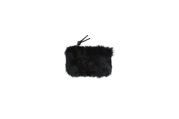 Primecut BLACK FURRY SMALL POUCH