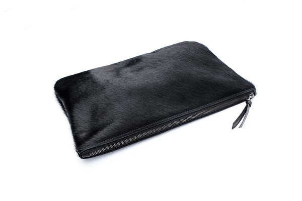 Primecut BLACK OVERSIZED CLUTCH