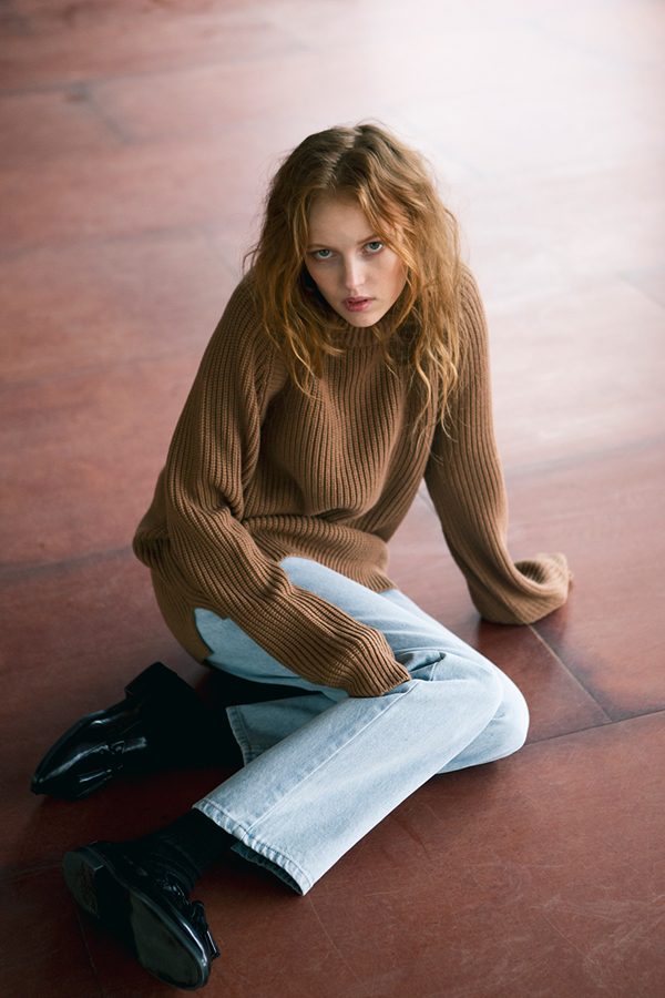 ANDERSSON BELL Raglan Oversized Sweater- Camel