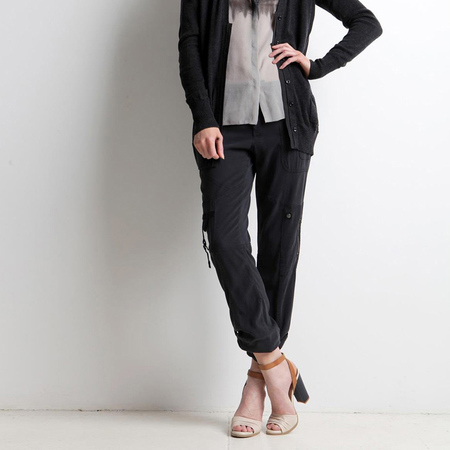 Go>Silk Army pant - washed black