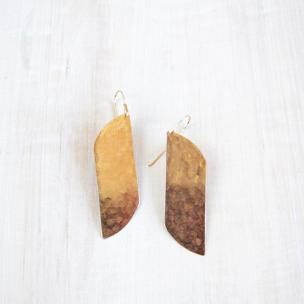 Christine Fail large shale earrings