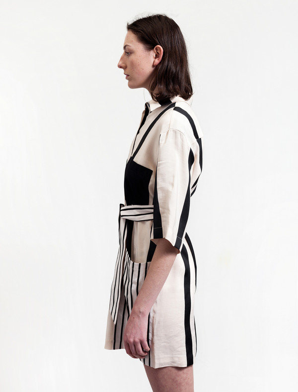 Acne Studios Cabell Linen Dress Stripes