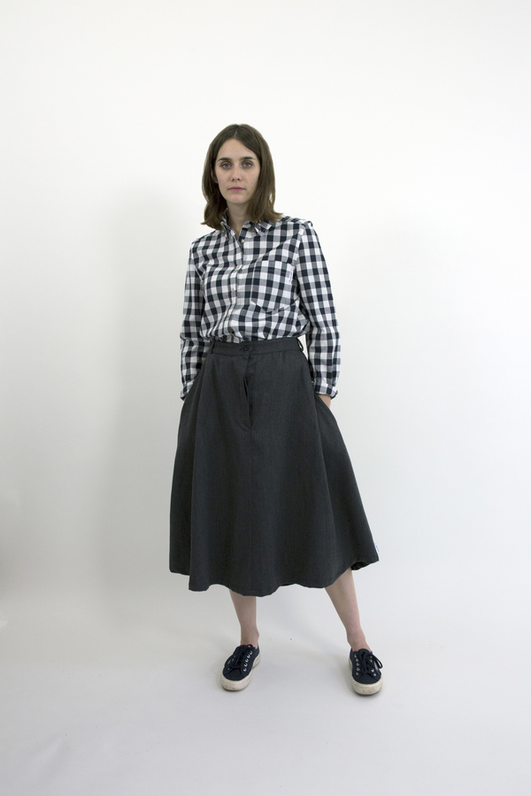 Feldt - Charcoal Midi Skirt