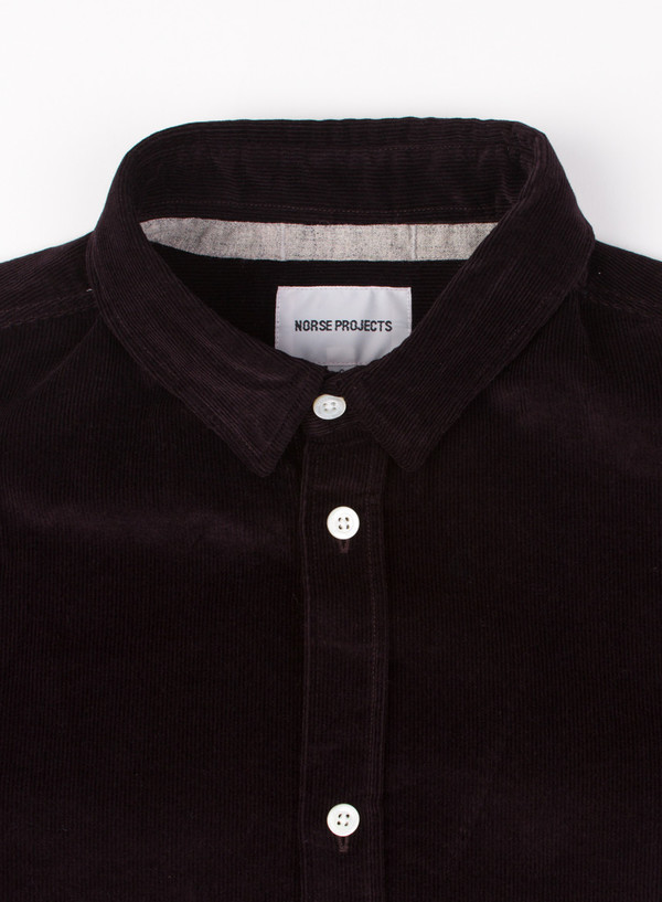 Men's Norse Projects Aaron Fine Corduroy Ganache Brown