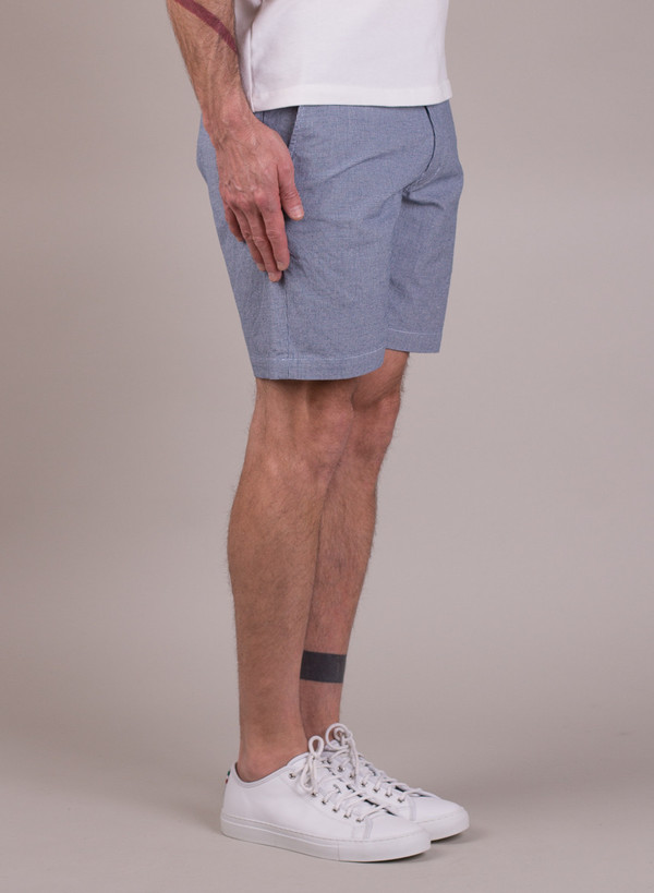 Men's Universal Works Bill Short Dogtooth Indigo