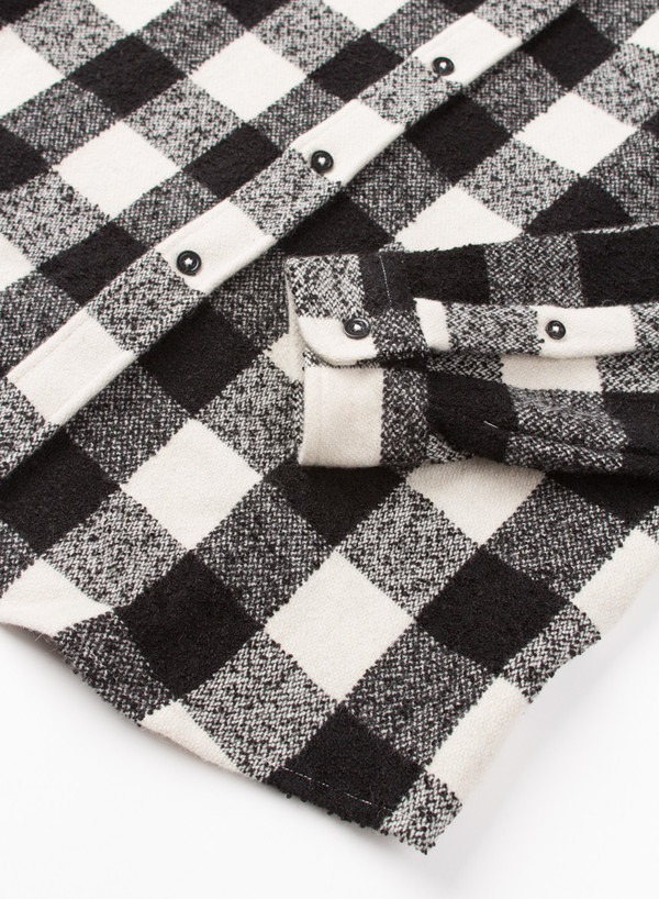 Men's AMI Alexandre Mattiusi Button Down Gingham Noir/Ecru