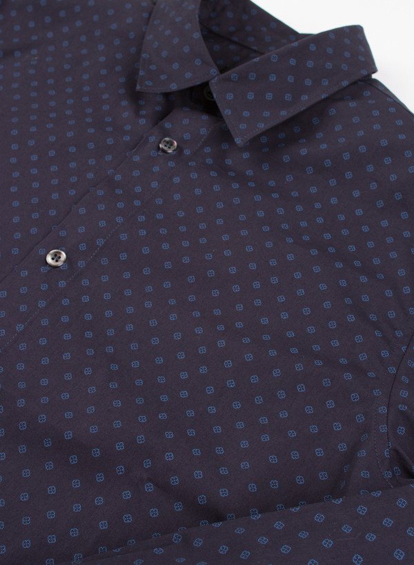 Men's A.P.C. Chemise Casual Dark Navy Pattern