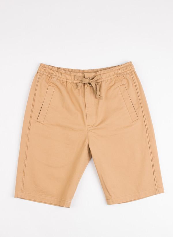 Men's Folk Drawcord Shorts Mud Brown