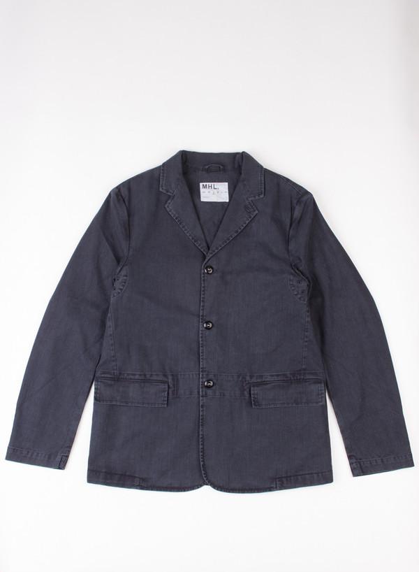 Men's MHL Margaret Howell Flap Pocket Blazer Indigo