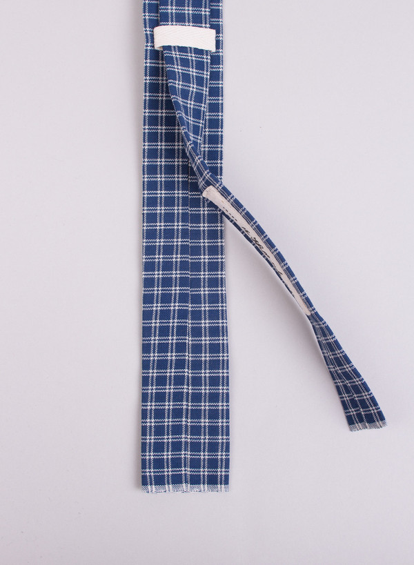 The Hill-Side Indigo Double Windowpane Tie