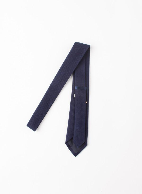"""Blue Blue Japan Indigo Dyed """"Sashiko"""" Cotton Neck Tie"""