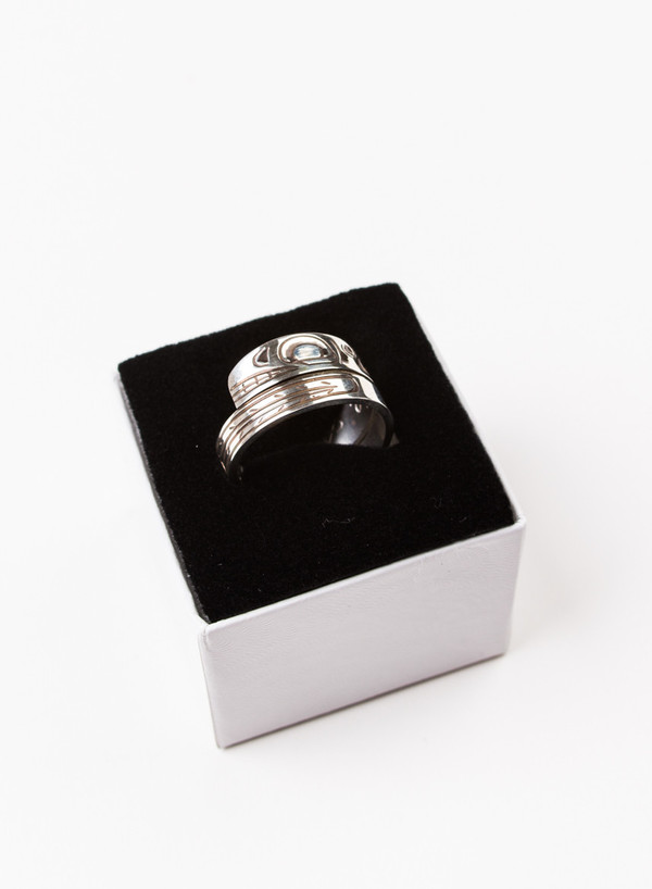 Men's MAPLE Orca Wrap Ring Silver 925
