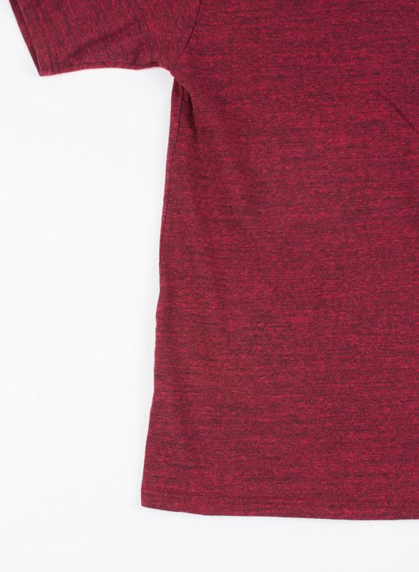Men's National Athletic Goods Pocket Tee Mock Twist Maroon