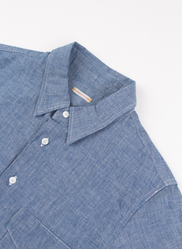 Men's Chimala Selvedge Chambray Work Shirt Rinse