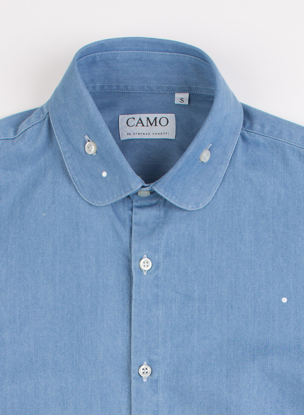 Men's Camo Sheremetyevo Round Collar Shirt Chambray