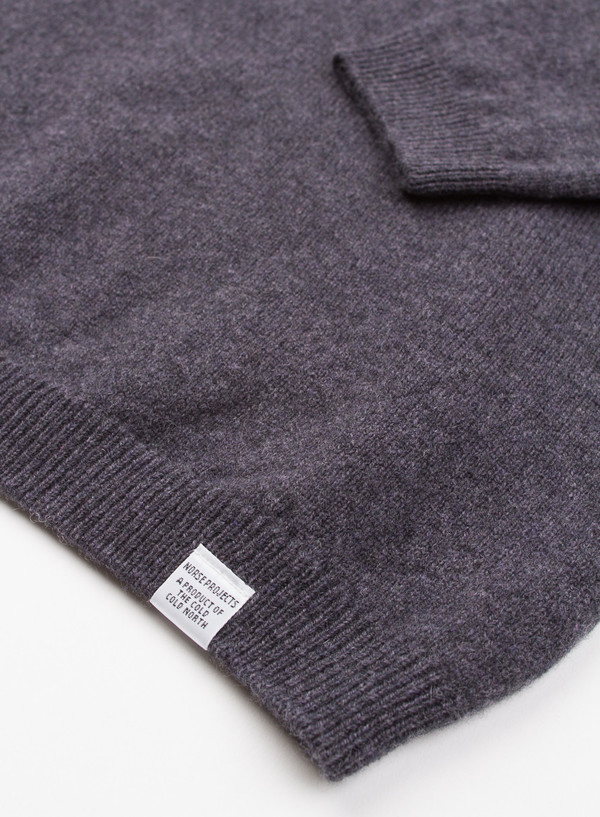 Men's Norse Projects Sigfred Lambswool Grey Melange