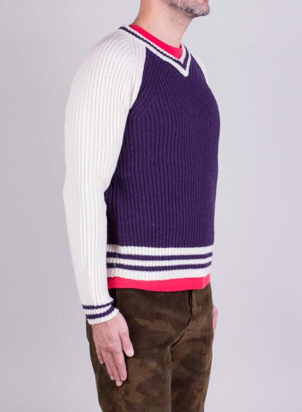 Men's Shipley & Halmos Sperry Knit Purple Guardenia