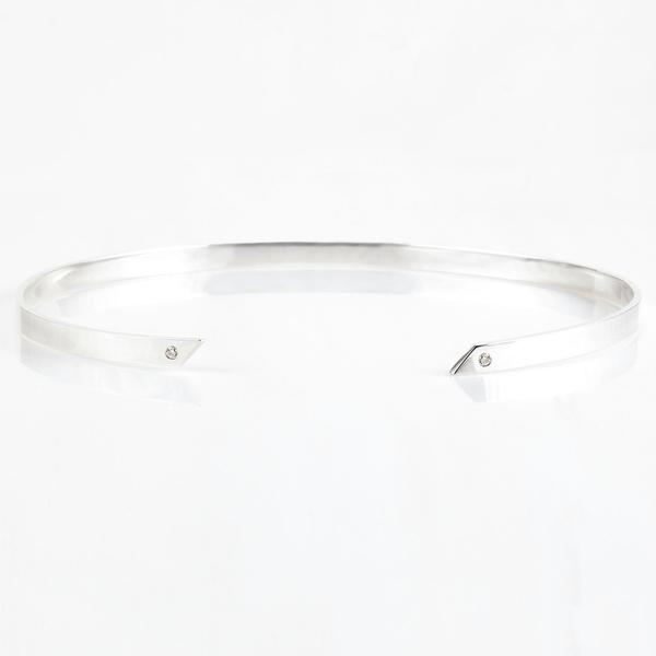 Tara 4779 Oblique Choker - Silver