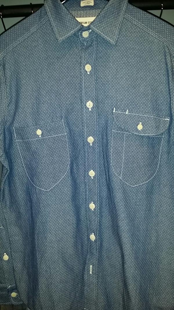 Men's Taylor Stitch Cone Mills Indigo Jacquard Glacier Shirt
