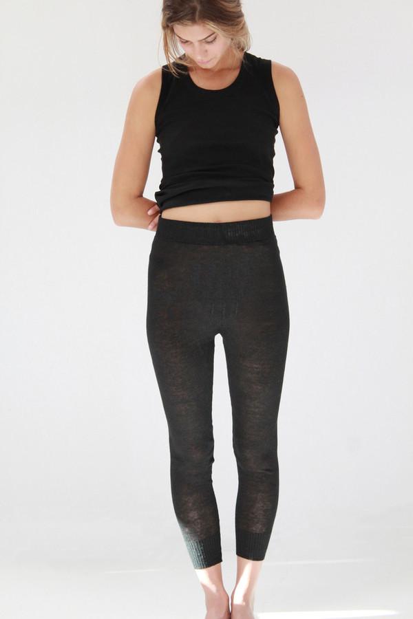Lina Rennell Linen Knit Sweats Black