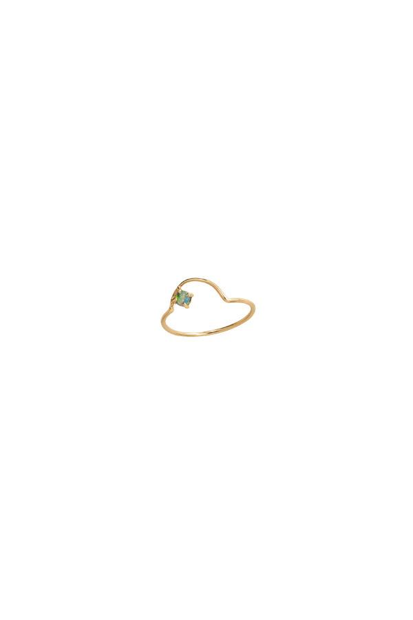 WWAKE Offset Opal Arc Ring 14KYG