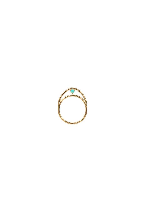 WWAKE Suspended Arc Opal Ring 14KYG