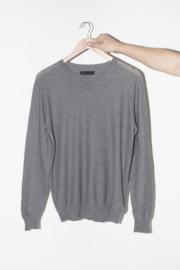 Men's Assembly Grey Antwerp Cotton Pullover