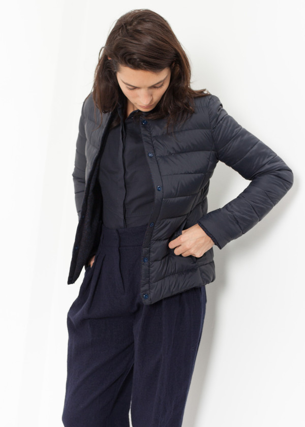 Lardini Camelia Reversible Jacket in Navy/Blue