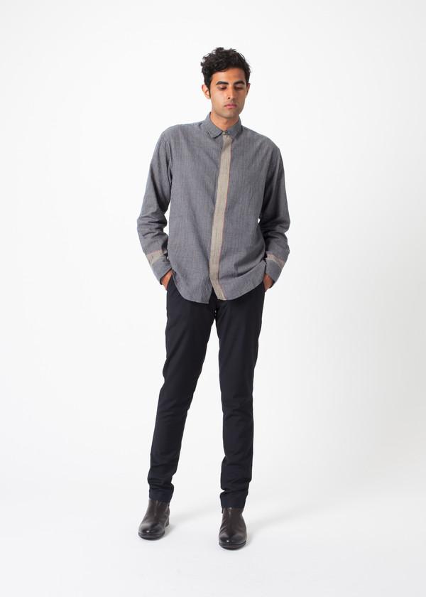 Men's Pero Fine Check Stripe Shirt