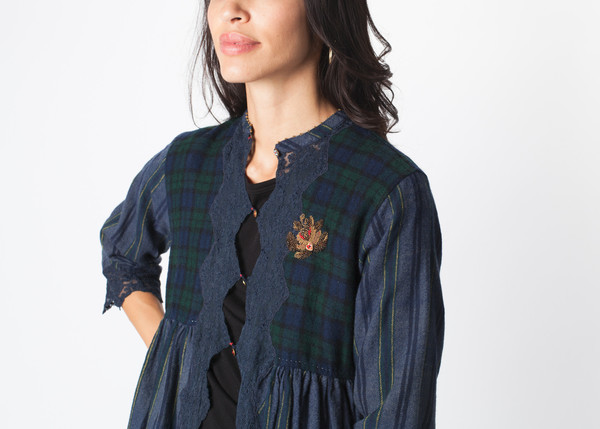 Pero Lace Flannel Button Up