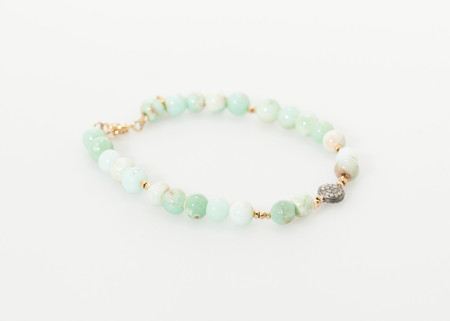 5 Octobre Leopold Bracelet in Green Chrysoprase