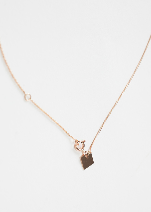 Ginette NY Mini Straw Diamond Necklace