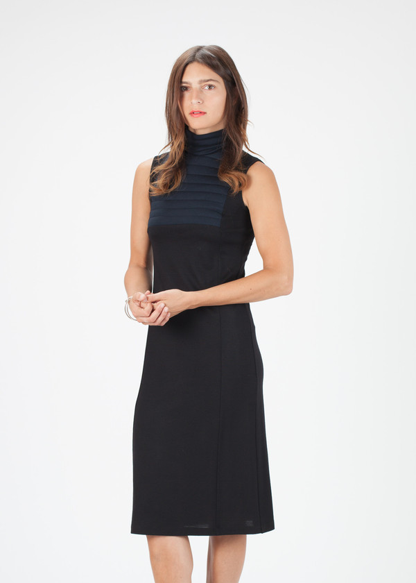 Hache Sleeveless Ribbed Dress