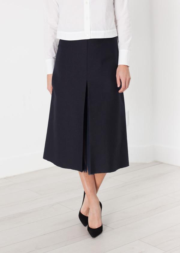 Ter et Bantine Tulle Pleat Skirt in Navy