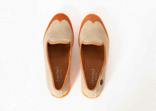Verba Wingtip Loafer in Orange