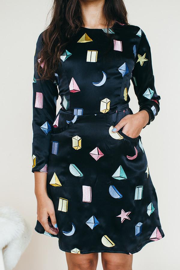Samantha Pleet Galactic Dress - Black