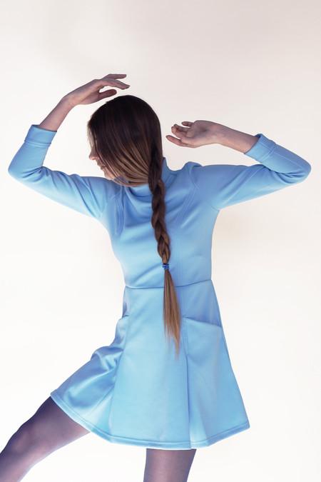 Samantha Pleet Booster Dress - Sky