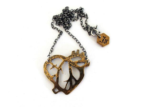Laurel Hill Anatomical Heart Necklace