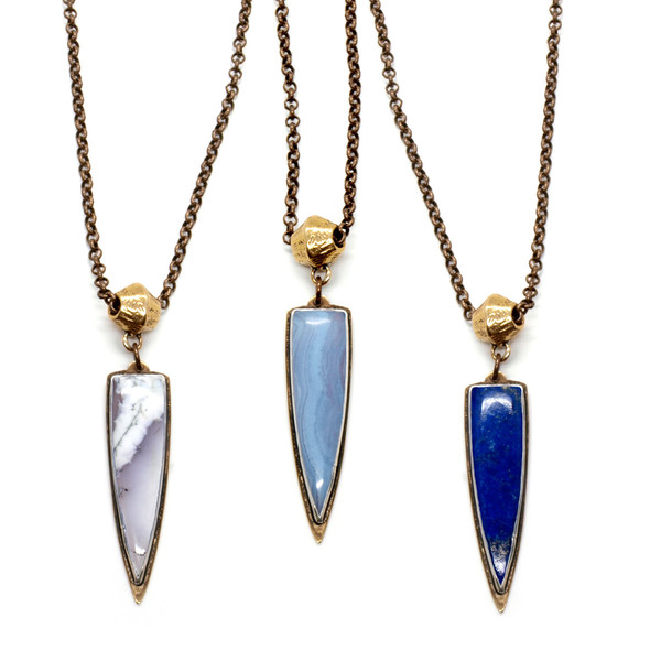 Laurel Hill Mirage Necklace // Blue Lace Agate