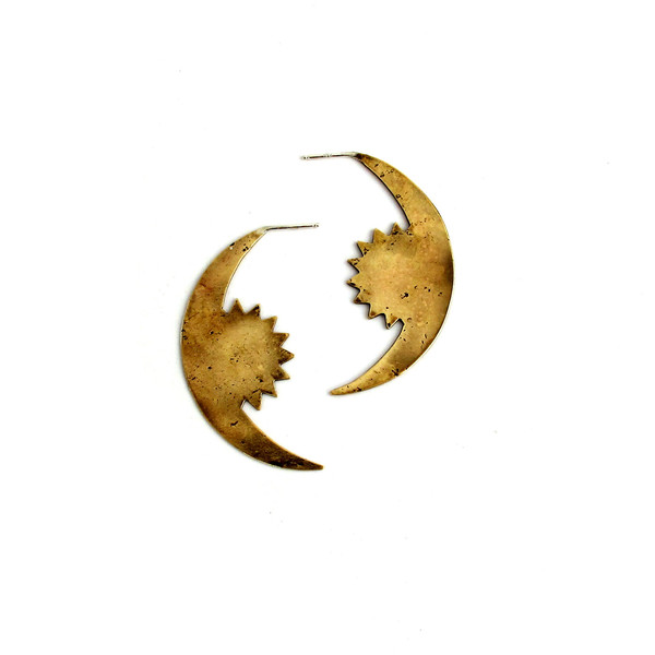 Laurel Hill Rising Crescent Earrings