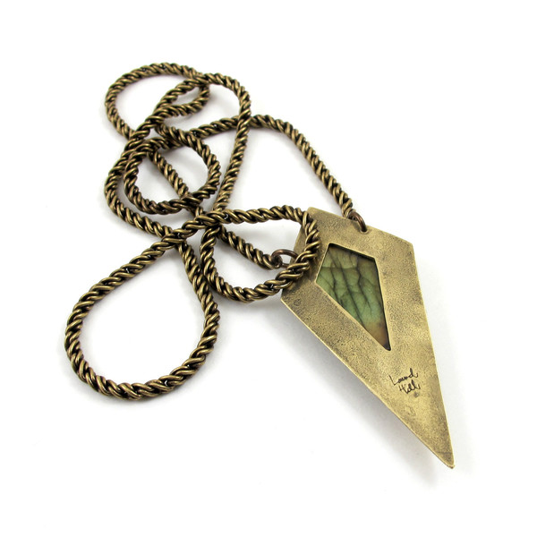 Laurel Hill Shield Necklace