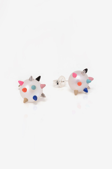 Nektar de Stagni Color Spike Earrings