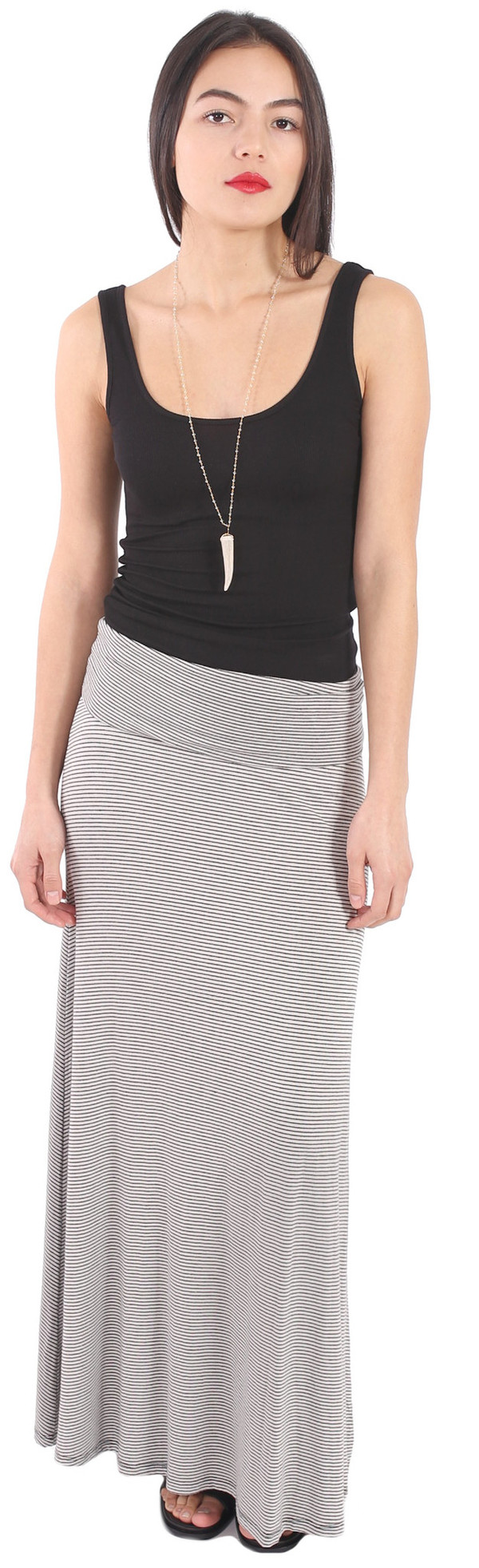 Michael Farrell Stripe Skirt