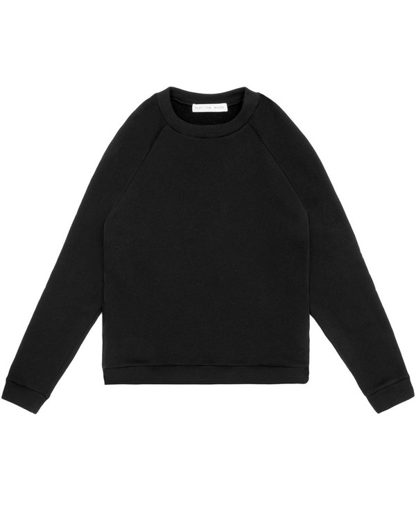 Unisex Play the Bones Raglan Crewneck - Black