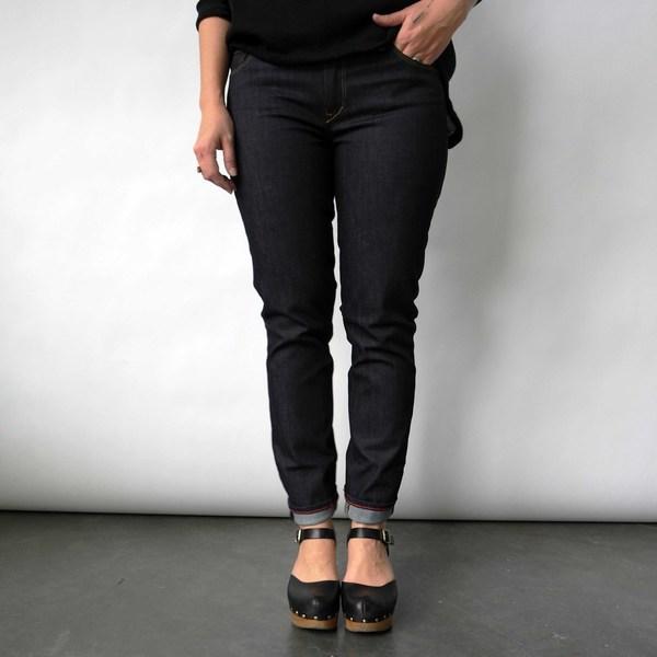 Raleigh Denim Workshop Surry Skinny Jeans in Raw indigo by Raleigh Denim Workshop