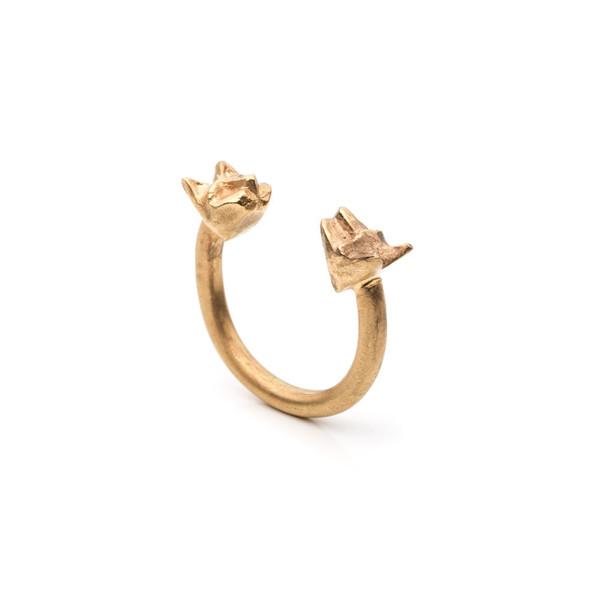 Natalie Frigo Double Cat Ring