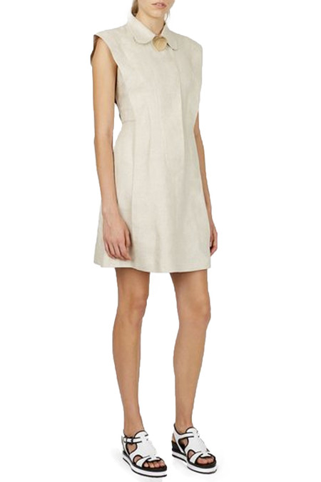 Opening Ceremony Linen Open Back Dress