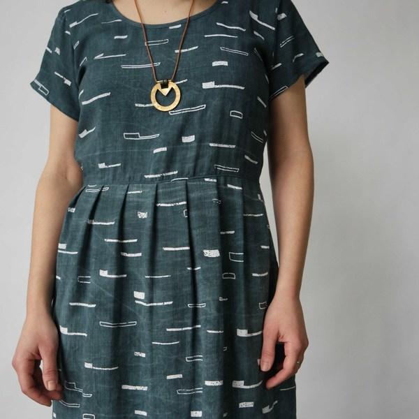 Make it Good Scoop Neck Pleated Dress Marine